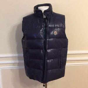 Moncler Navy Blue Puffer Vest with Hood